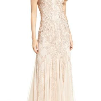 Adrianna Papell Beaded Gown (Regular & Petite) | Nordstrom