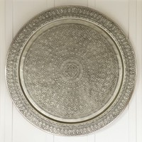 DECORATIVE METAL DISC - SILVER