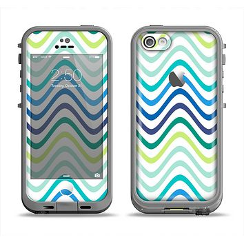 The Vibrant Fun Colored Pattern Swirls Apple iPhone 5c LifeProof Fre Case Skin Set
