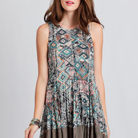Mystery Date Printed Dress