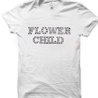 Flower child tee shirt women's clothing unisex brandy Melville styled golden youth cheap affordable tshirt