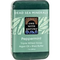 One With Nature Dead Sea Minerals Bar Soap - Peppermint - 7 oz
