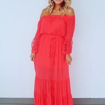 Keep You Waiting Maxi: Fiery Coral