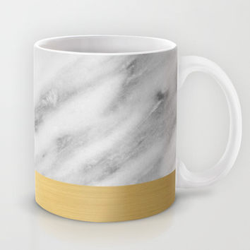 Carrara Italian Marble Holiday Gold Edition Mug by cafelab