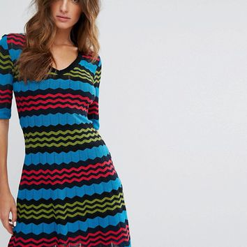 M Missoni Short Sleeve A Line Wool Mix Knit Dress at asos.com
