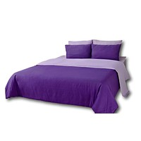 Tache 4-6 Piece Lavender Dreams Reversible Comforter Set (CS6PC-PP)