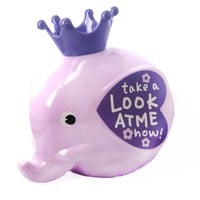 Adorable Elephant Shaped Money Box Piggy Coin Bank in Purple | DOTOLY