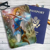 Link The Legend of Zelda Wii U Arrow Leather Passport Wallet Case Cover