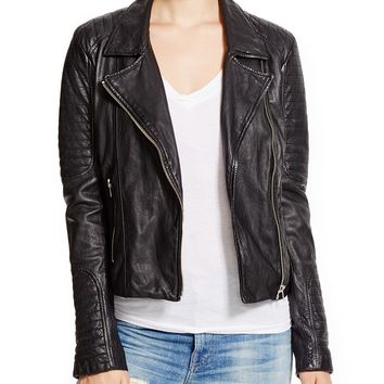 BB DAKOTA Benton Leather Moto Jacket