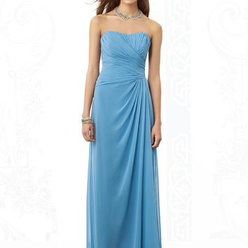 After Six Lux Chiffon Long Bridesmaids Dress 6690