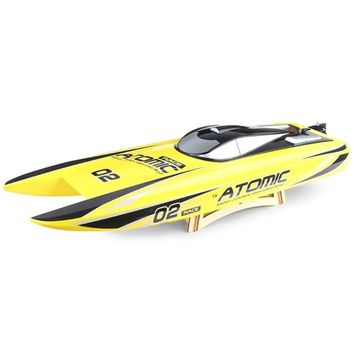 65km/H High Speed RC Boats Toys 2 Modes 2.4GHz 2CH 300m Remote Control Distance And Long Playing Time Strong Power Kids Toy