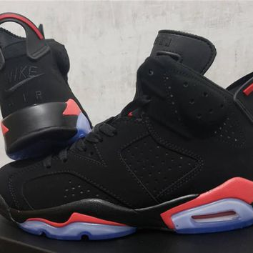 "2019 Air Jordan 6 Retro ""Black Infrared"" Sneaker Shoe Size US 5.5-13"