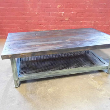 Coffee Table, Shabby Chic Table, Industrial Table, Reclaimed Woo