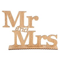 Rustic Vintage DIY Mr and Mrs Wooden Letters Wedding Decoration