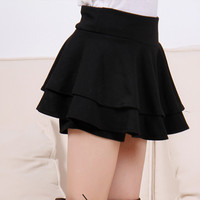 Layered Ruffled Mini Skirt