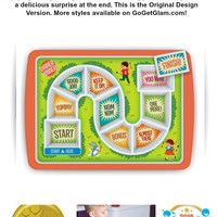 Kids Fussy Eaters Adventure Game Dinner Plate