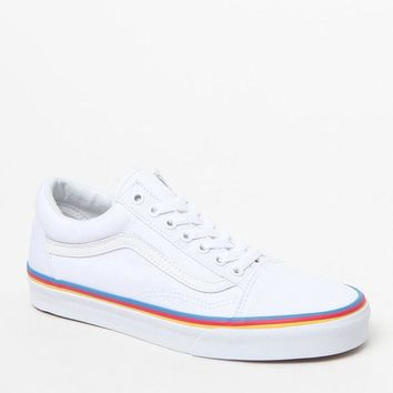 DCCKJH6 Vans Women's Old Skool Rainbow Foxing Sneakers