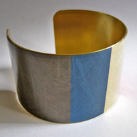 France FLAG cuff bracelet French Brass or Stainless Steel Heritage