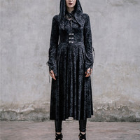 Elegant Victorian Halloween Costumes for Women Noble Ladies Extravagant Dresses Black Color Above Ankle Long with Cloak XS-3XL