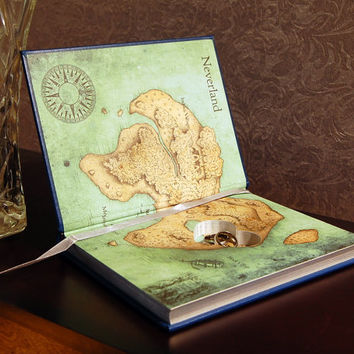 Hollow Book Safe with Heart (Peter Pan Leatherbound)