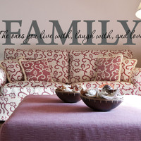 Family Wall Decal - by Decor Designs Decals, The Love Of Our Family - Family Decal - Family Quote Decal - Living Room Decal - Family Wall Sticker - Decals - U11