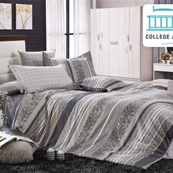 Lafoil Twin XL Comforter Set - College Ave Designer Series Supplies For Dorms College Bedding Essentials