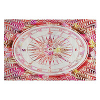 Deny Designs Follow Your Own Path Woven Rug Pink Combo One Size For Women 23687239801