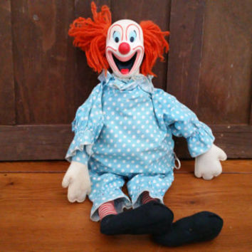 Vintage Mattel Talking Bozo the Clown Doll With Pull String *Works