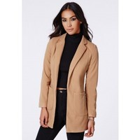 Missguided - Vanessa Camel Tailored Coat