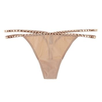 ID Sarrieri | Notting Hill Nude Studded Thong - $98.00