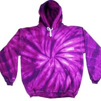 Buy Cool Shirts Mens Tie Dye Pullover Spider Purple Hoodie