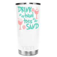 YETI Drink in the Sand on White 20 oz Beach Tumbler