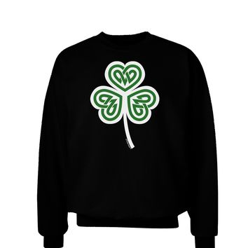 Celtic Knot Irish Shamrock Adult Dark Sweatshirt