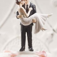 Personalized Swept Up in His Arms Cake Topper - David's Bridal- mobile