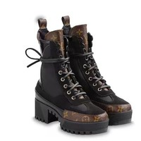 2020 Office New【Louis Vuitton】LV One Word With Flat Bottom snow high top boots SHEEPSKIN High Boots DISCOUNT best quality