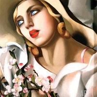 Portrait Fille Print by Tamara de Lempicka at Art.com