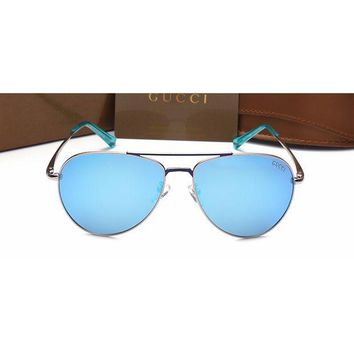 Gucci Women Casual Sun Shades Eyeglasses Glasses Sunglasses Sky Blue G