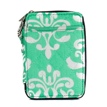 Simply Southern Mint Damask Small Wallet