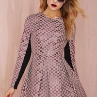 Nasty Gal Really Got Me Dress - Jacquard