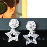NT0133 Diamond ear clips stars