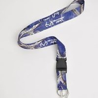Realtree APC Blue Camo Neck Lanyard With Detachable Key Ring & Carabiner