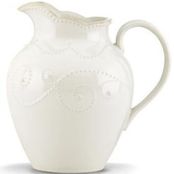 French Perle White Medium Pitcher by Lenox