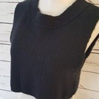 New NWT FREE PEOPLE Sz S Small cropped black Sweater Alpaca Wool Blend
