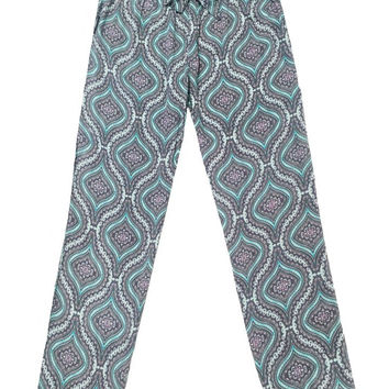 PJ Salvage Challe Medallion Pant in Seafoam Green