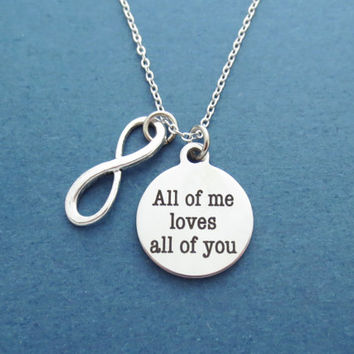 Infinity, Sign, All of me loves All of you, Love, Necklace, Birthday, Valentine, Friendship, Best friend, Friends, Gift, Accessory, Jewelry
