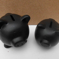 Chalkboard Piggy Bank Blackboard Pig Unique Valentines Day Gift Wedding Money Gifts For Him and Her Teen Home Decor Lovely Couple
