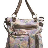 Floral Print Shoulder/Crossbody Bag | Wet Seal