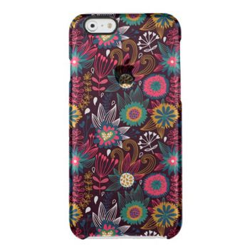 Modern Flower Pattern Uncommon Clearly™ Deflector iPhone 6 Case