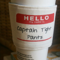 Captain Tight Pants cup cozy
