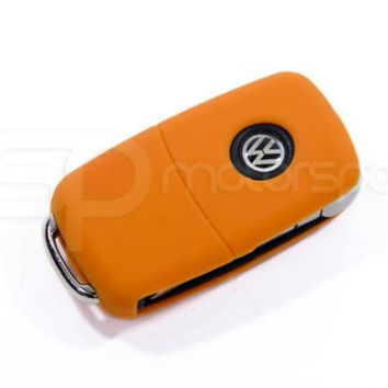 Key Fob Cover (Volkswagen Models)- Orange Silicone